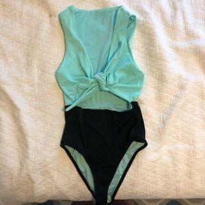 ASOS One-Piece Cutout Swimsuit, Size 0